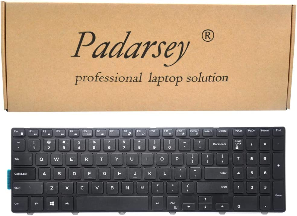 Padarsey 15 3000 Keyboard with Frame, New Laptop Notebook Replacement Keyboard for Dell Inspiron 15 3541 3542 3543 3551 3558 3559 5000 5542 5545 5547 5548 5551 5555 5558 and 17 5000 Series US Layout