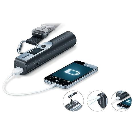 Beurer LS50 - Ba sculapara Equipaje con Cargador para Smartphone, Linterna, Color Negro: Amazon.es: Equipaje