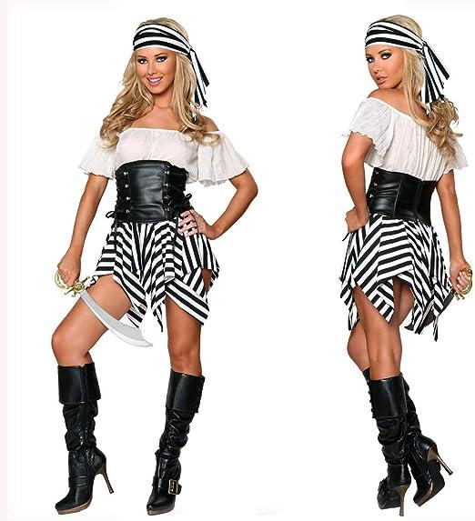 Traje de Cosplay, Mujer Pirata Disfraz de Halloween Cosplay Papel ...