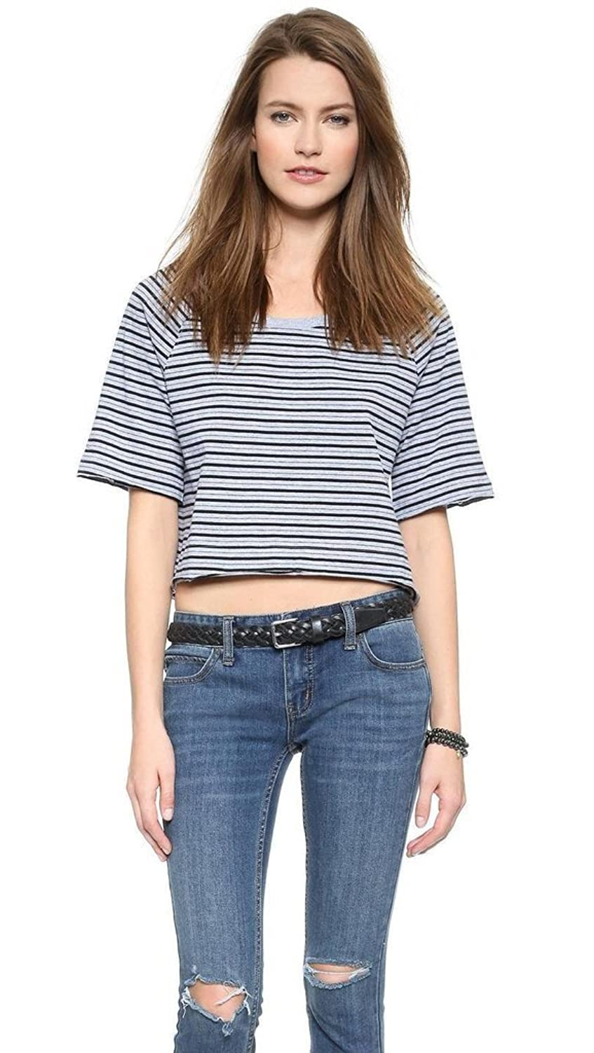 Free People Take Me Back Top Stripe Tee