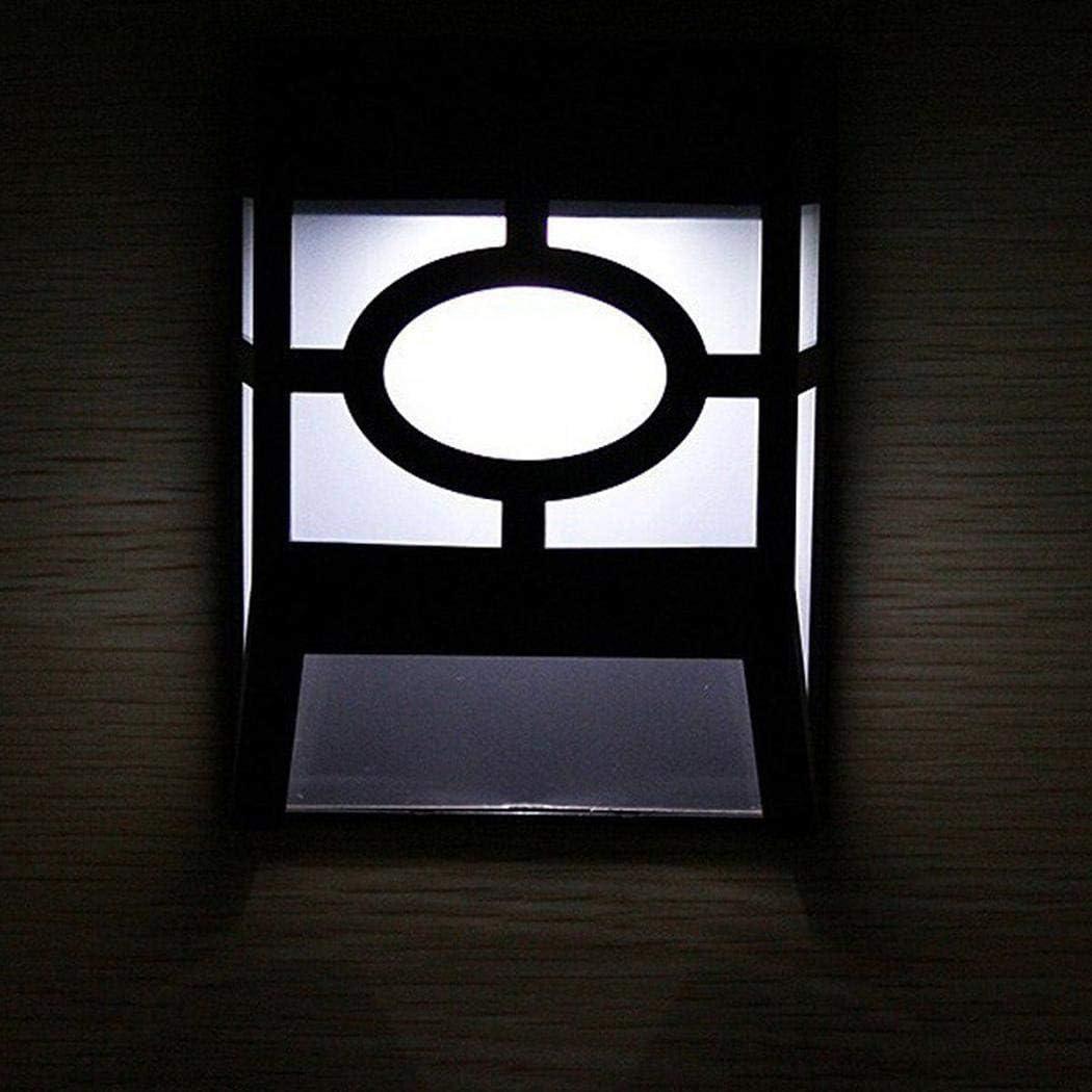 Zippem Solar Powered Wall Mount LED Light Outdoor Solar Wall Light Wall Lamps /& Sconces