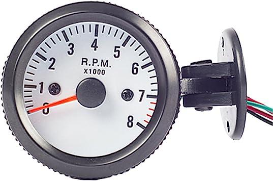 2/'/' 52MM Car Digital LED Display Tachometer Tacho Gauge Meter Pointer RPM Gray