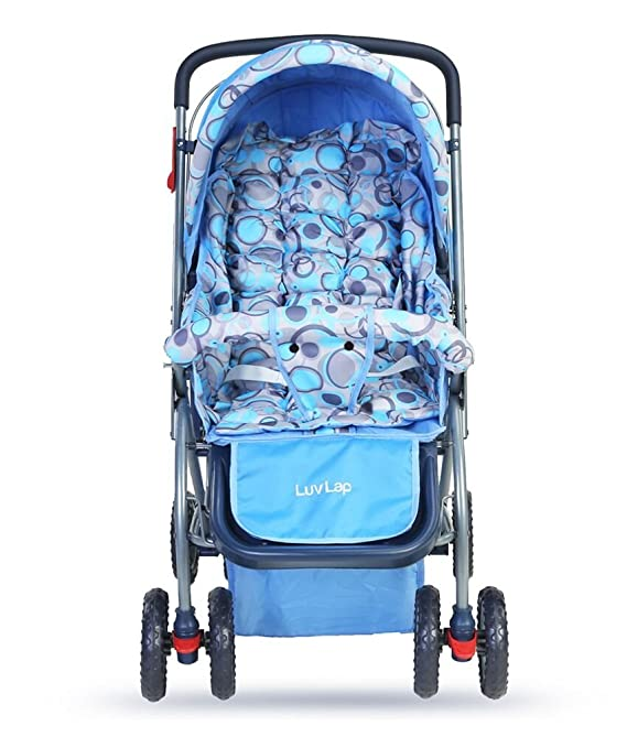 LuvLap Starshine Stroller / Pram, for Newborn Baby / Kids, 0-3 Years (Sky Blue)