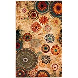 New Medallion Multi colored Area Rug 5x8,Carpet,Soft Rug,Living Room,Dining room, Foyer