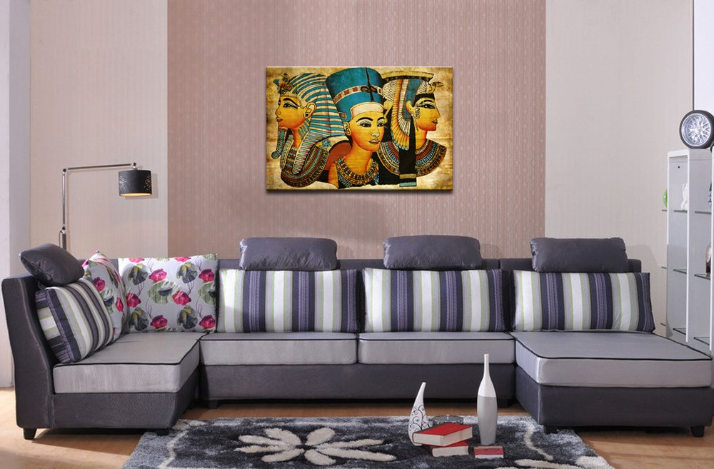 Egyptian Goddesses Epic,Surprise Ancient Vintage Canvas Wall Art Ready to Hang,Elegant Women Wall Art for Home Decor,Girl Canvas Prints Sea Charm Trading Co Sea Charm Ltd YC2010