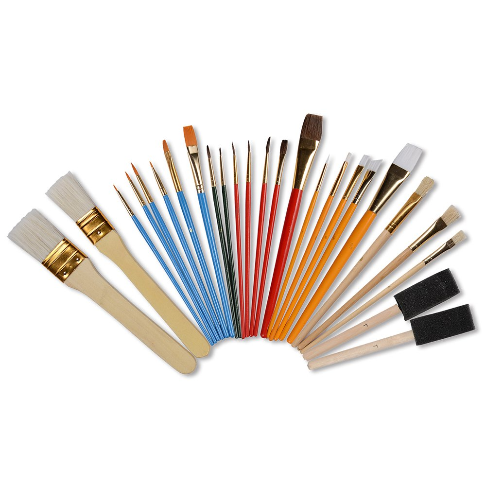 CONDA 4336960682 Paint Brush Set Starter Kit 25-Piece Assorted Sizes, PCS