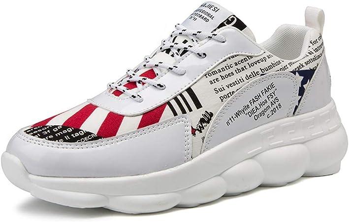 Deporte Pasear zapatos para correr para hombre Rendimiento de la aptitud de burbujas de aire entrenadores deportivos Casual gimnasio al aire libre tamaño de los zapatos corrientes de ,Blanco,43: Amazon.es: Deportes y