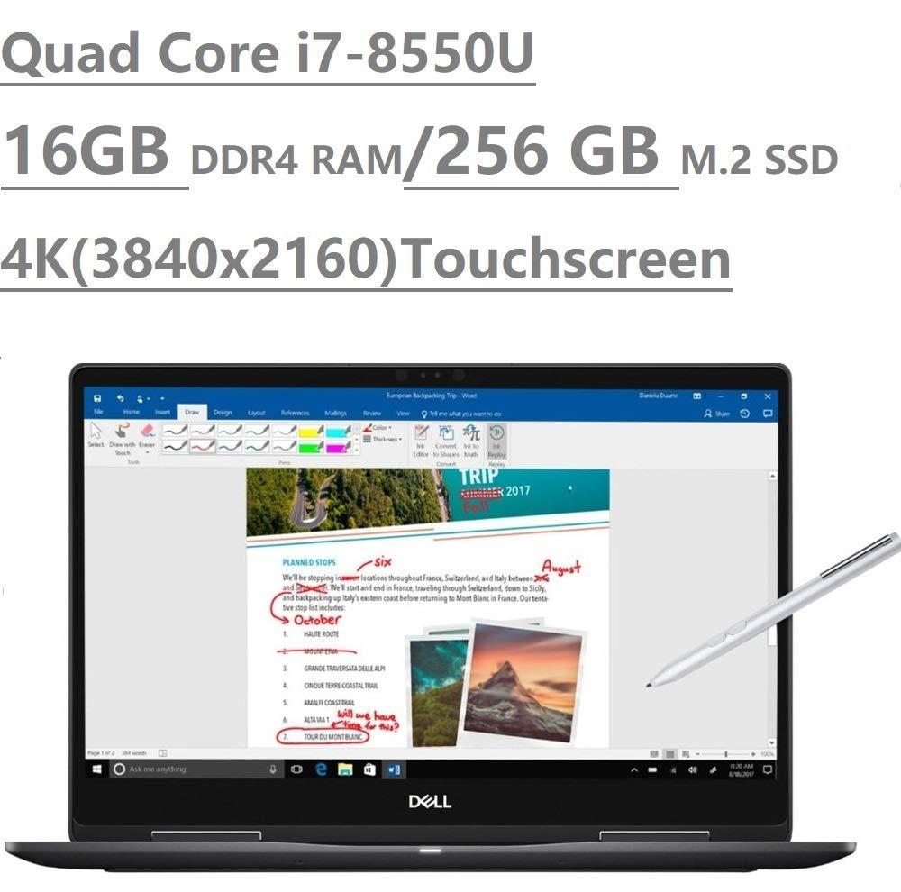 2019 Dell Inspiron 15 7000 7573 15.6 4K UHD Touchscreen 3840×2160 2-in-1 Laptop Intel Quad-Core i7-8550U, 16GB DDR4, 256GB M.2 SSD, MX130 2GB Backlit, HDMI, Type-C, Bluetooth, Windows 10 64-bit