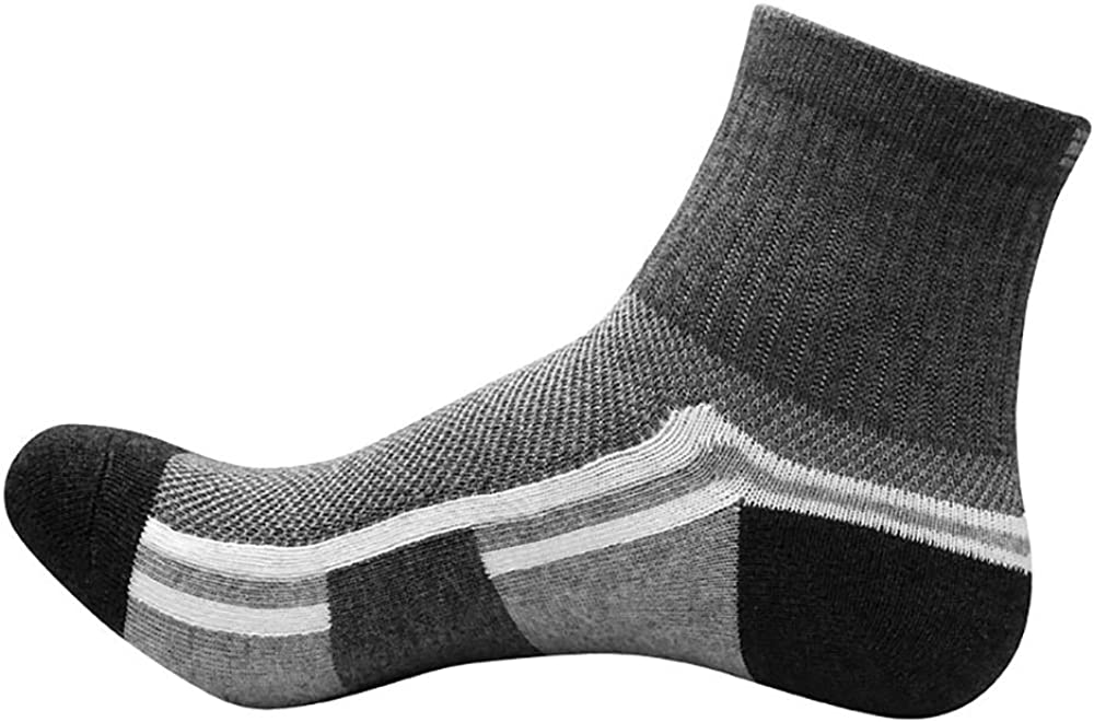 Hiking Basketball Running Oeak 5 Pairs Mens Compression Socks Athletic Ankle Socks for Mountain Climbing