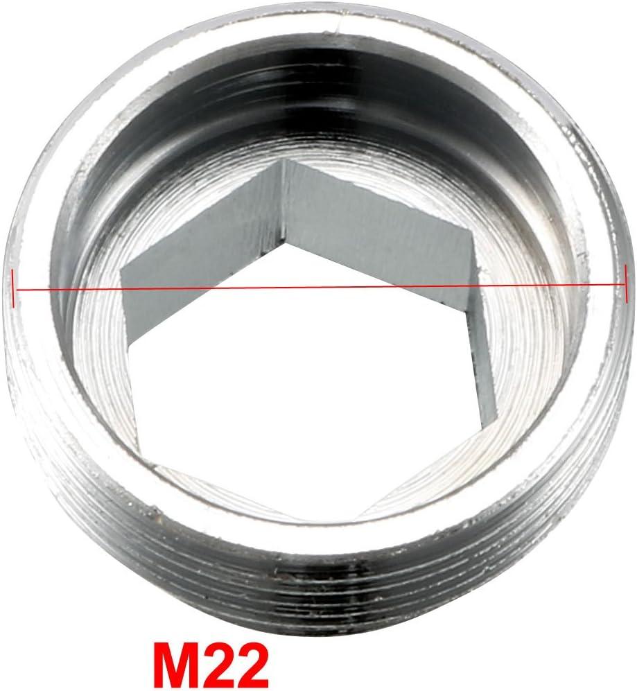 sourcing map 3pcs 1//2BSP femelle /à Fil m/âle M22 Adaptateur robinet M/étal purificateur eau