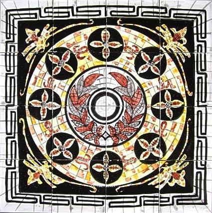 Amazon com: Decorative Ceramic Roman Italian Design Tiles: Hand
