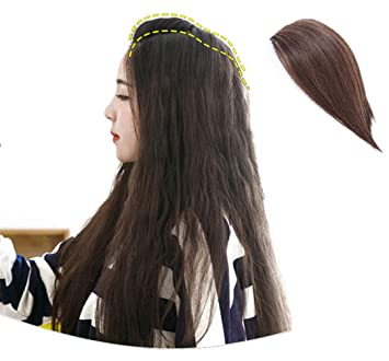 Crown Topper Hair Extensions for Women - Human Hair Clip in Top Hair  Extensions Wiglet Hair 11ca745dfb