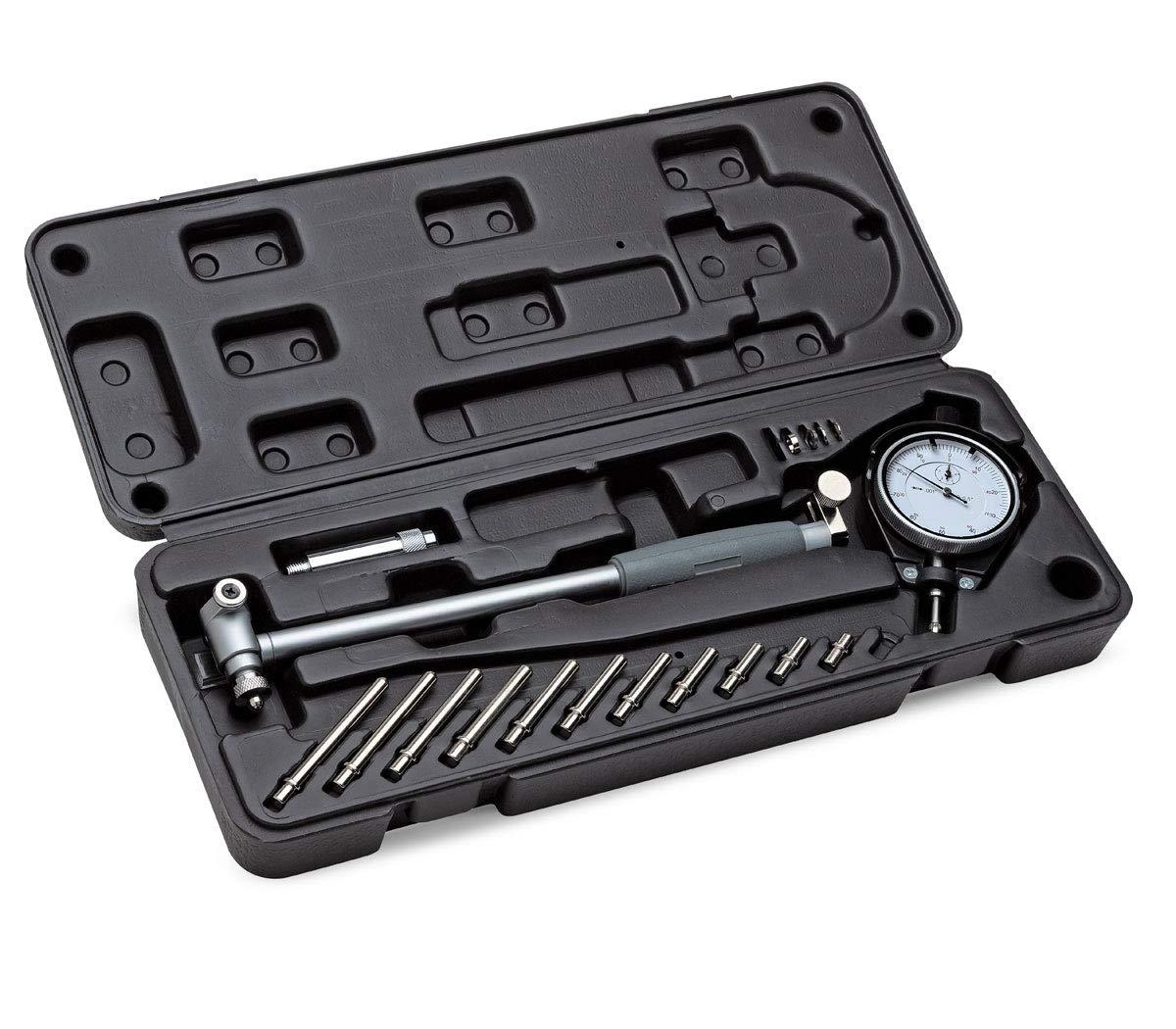 Eastwood Dial Type Cylinder Bore Gauge Kit 2-6 in. Range Measuring 0.01 Accuracy Diameter Indicator Tool Kit