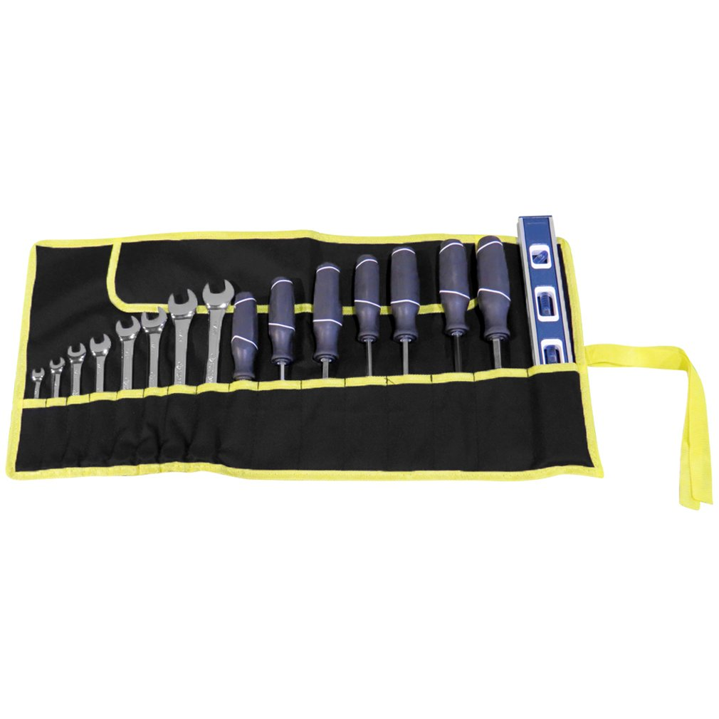 Evelots Set Of 2 -16 Pocket Canvas Wrench Tool Roll Bags