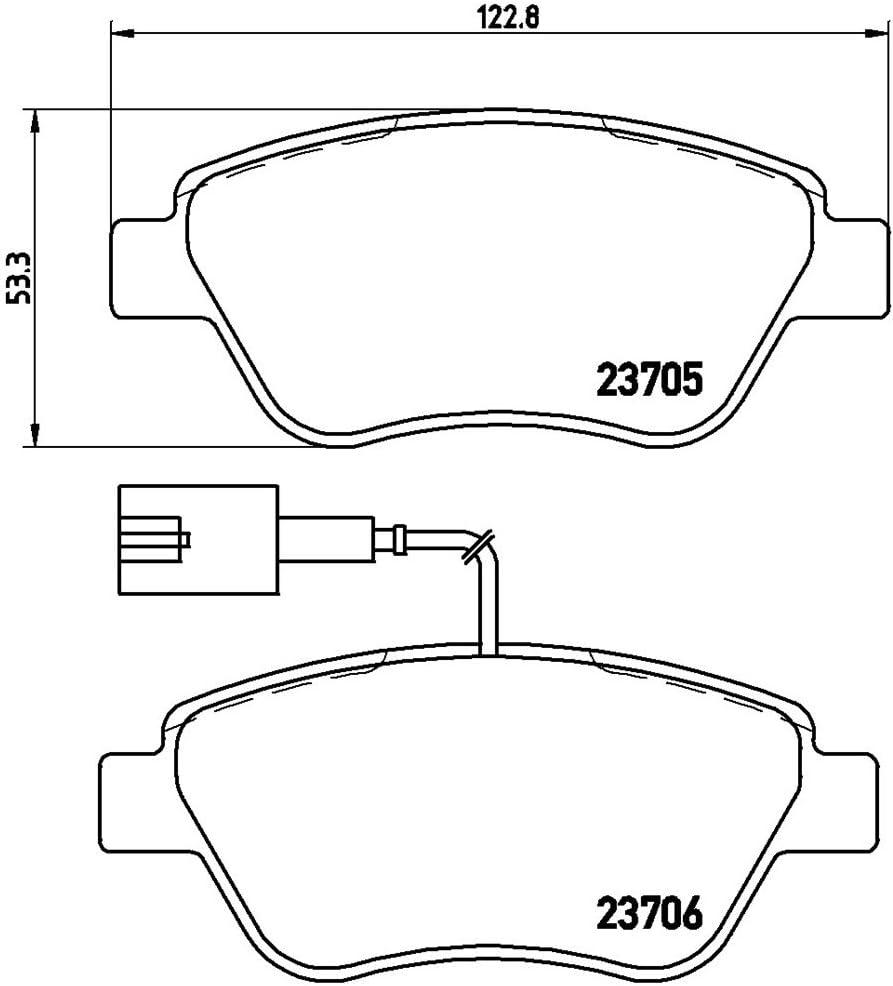 09.5843.34/ Brembo P23085 Discos de freno y pastillas delanteras