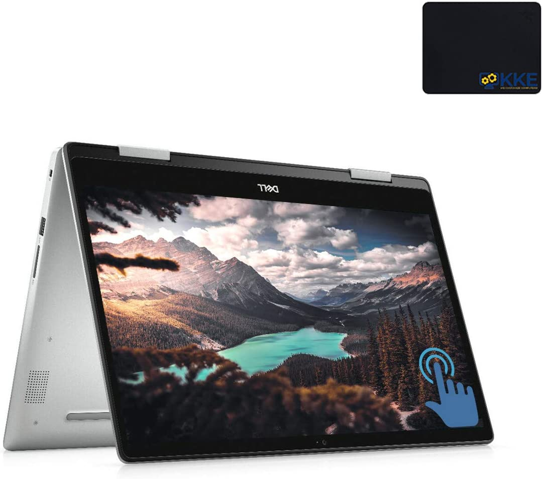 "Dell 15.6"" 2-in-1 FHD Touchscreen Laptop, Intel Core i5-10210u, 12GB DDR4 Memory, 256GB PCIe Solid State Drive + 1TB HDD, HDMI, FP Reader, WiFi, Win10 Home"