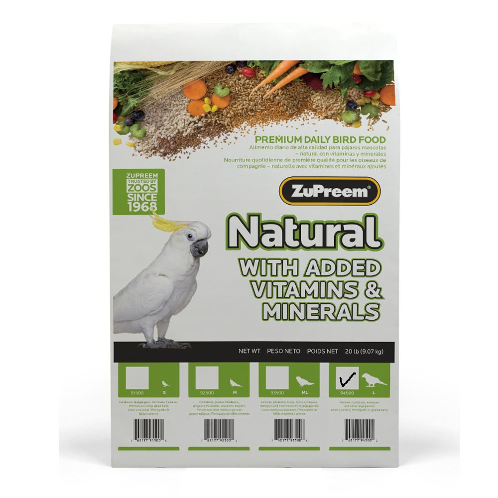Zupreem 230358 Natural Large Bird Food, 20-Pound by ZuPreem