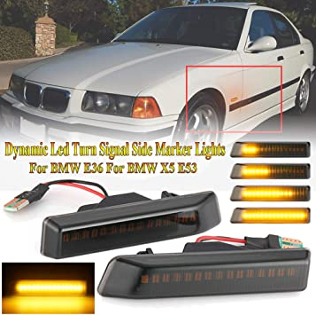 SMOKED SIDE REPEATERS INDICATORS BMW E36 3 SERIES FACELIFT MODEL /& BMW X5 E53