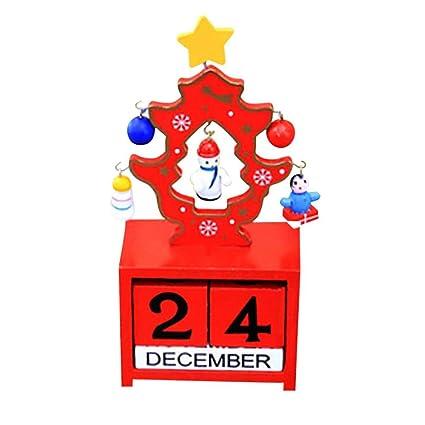 christmas themed novelty calendar lotusflower christmas creative gifts wooden calendar decoration mini wood - Amazon Christmas Home Decor