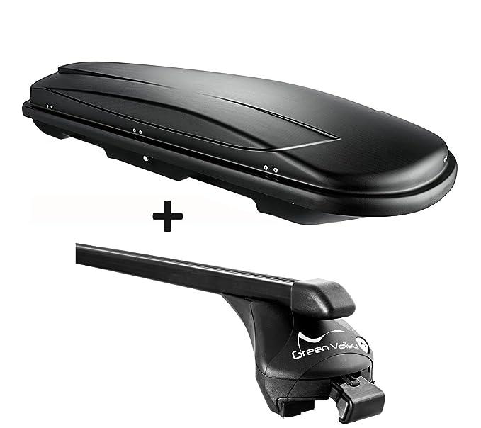 VDP Dachbox schwarz Juxt 400 Dachkoffer 400 Liter abschlie/ßbar Alu-Relingtr/äger aufliegende Reling Mercedes GLC ab 2015
