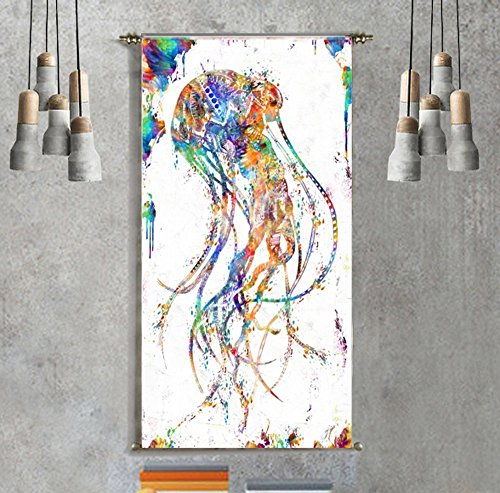 wall-tapestry-wall-hanging-urban-outfitters-jellyfish-art-canvas-painting-prints-wall-decoration-bed