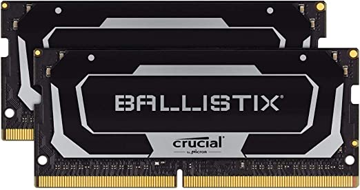 TALLA 32 GB (16 GBx2). Crucial Ballistix BL2K16G26C16S4B 2666 MHz, DDR4, DRAM, Memoria Gamer Kit para Ordenadores portátiles, 32GB (16GB x2), CL16