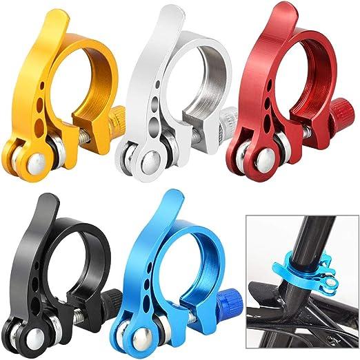 SNAGAROG 5 Abrazaderas de liberación rápida para tija de sillín de Bicicleta de aleación de Aluminio