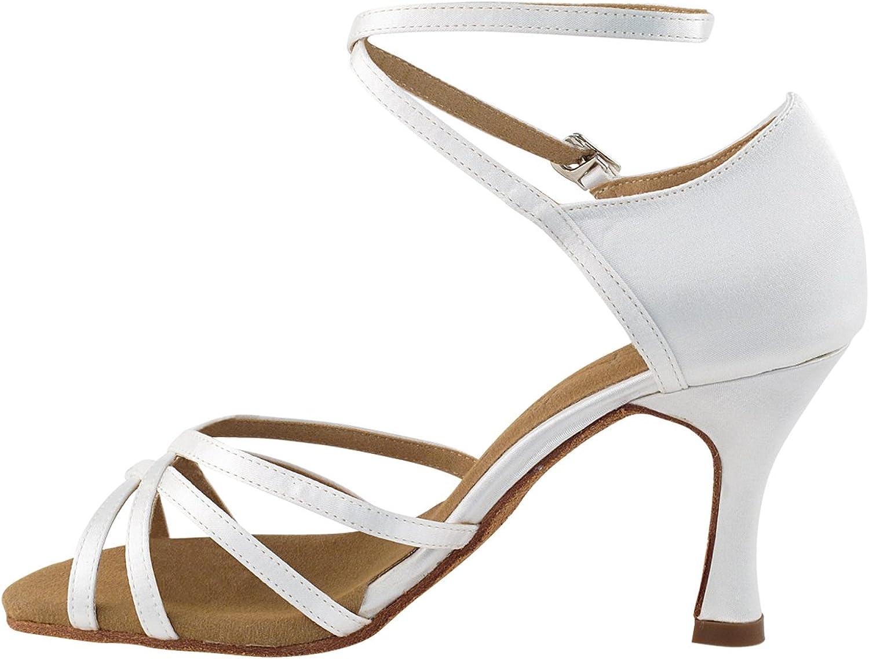 Ballroom Salsa Wedding Clubing Swing 50 Shades White Ballroom Latin Dance Shoes for Women