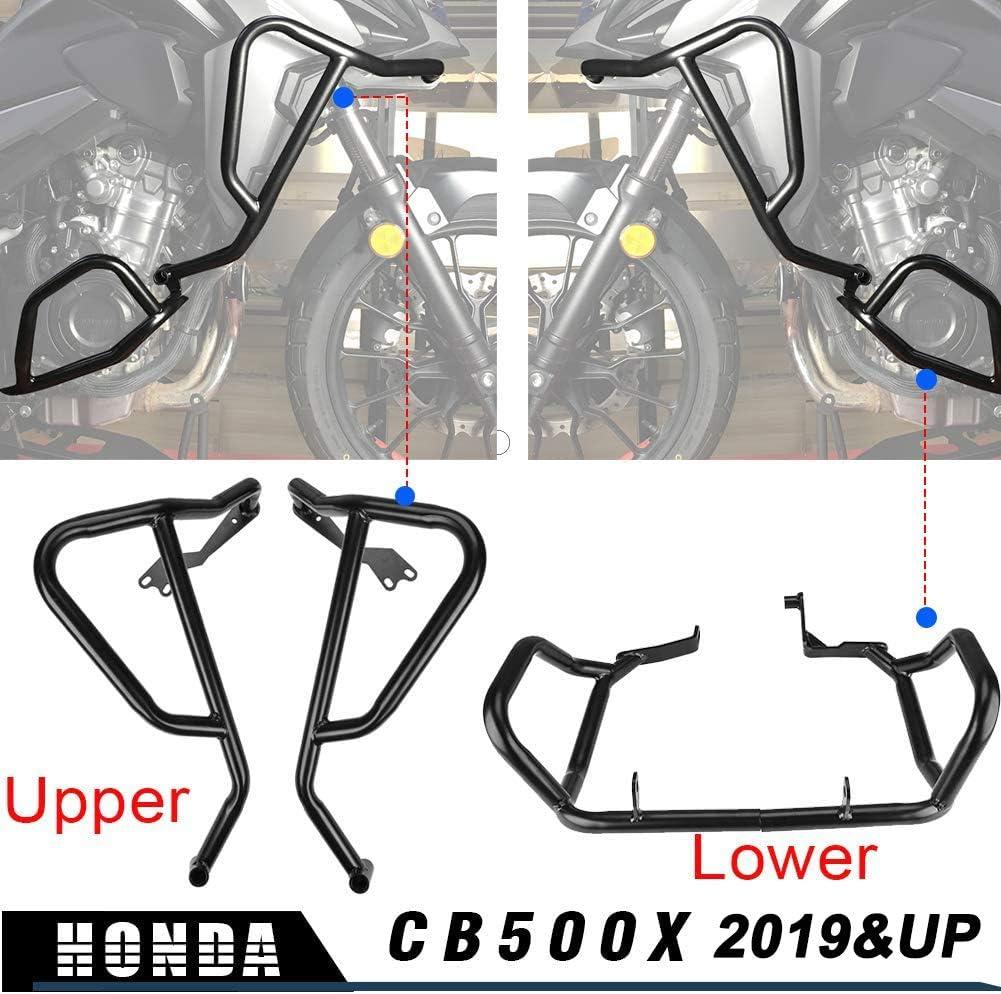 Lorababer Motorrad Schwarz Motorschutzblech Sturzbügel Verkleidung Rahmenschutz Oben Unten Für H O N D A Cb500x Cb 500x Cb 500x 2019 2020 2021 Niedriger Auto