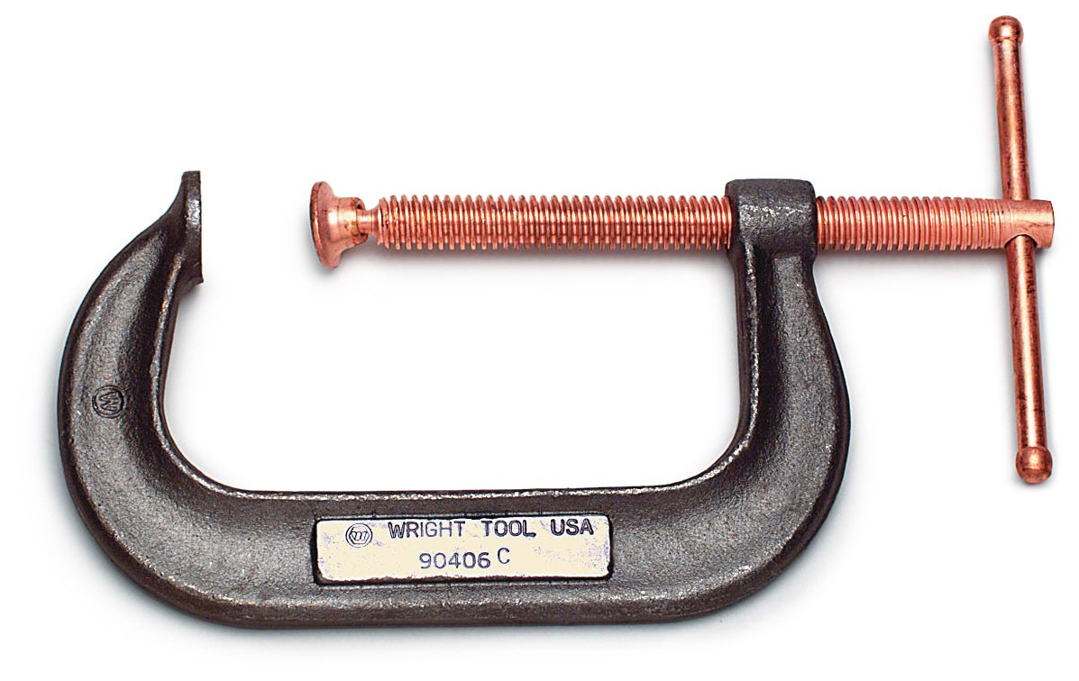 Wright Tool 90412B 12-Inch Deep Throat Forged Steel Body Clamps with Copper Screw