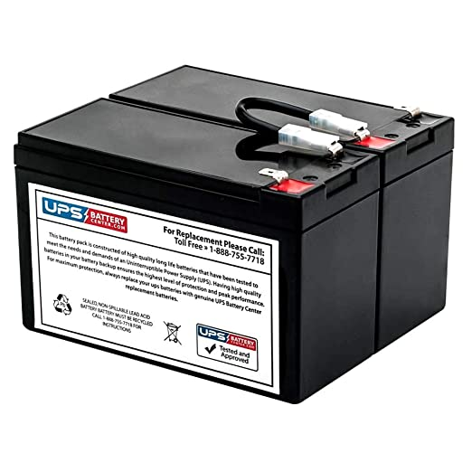 BR1500LCD - New RBC109 battery pack for APC Back-UPS RS 1500VA BR1500LCD - Compatible...