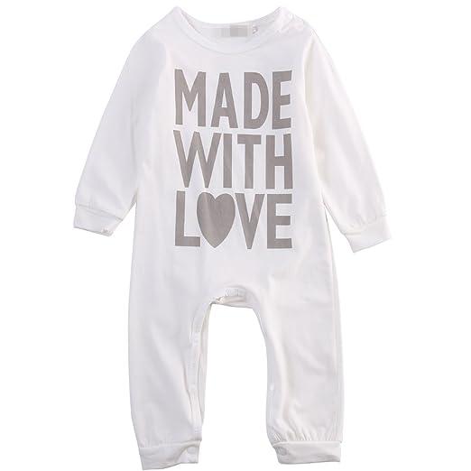 6845e3f10158 Amazon.com  Baby Boy Girl Romper