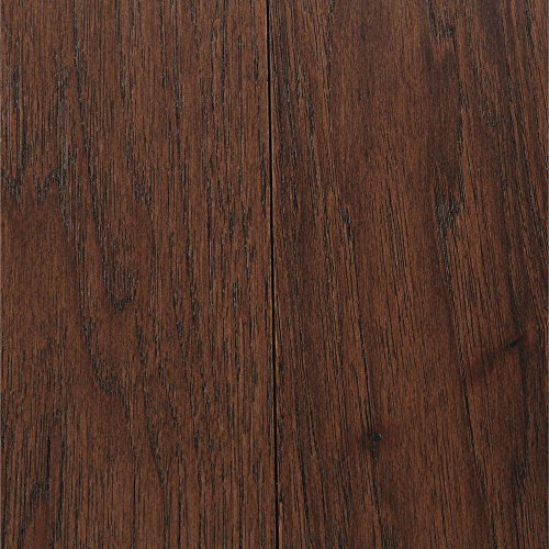 Wire Brushed Benson Hickory 3/8 in. x 5 in. Wide x 47-1/4 in. Length Click Lock Hardwood Flooring (19.686 sq. ft. /case)