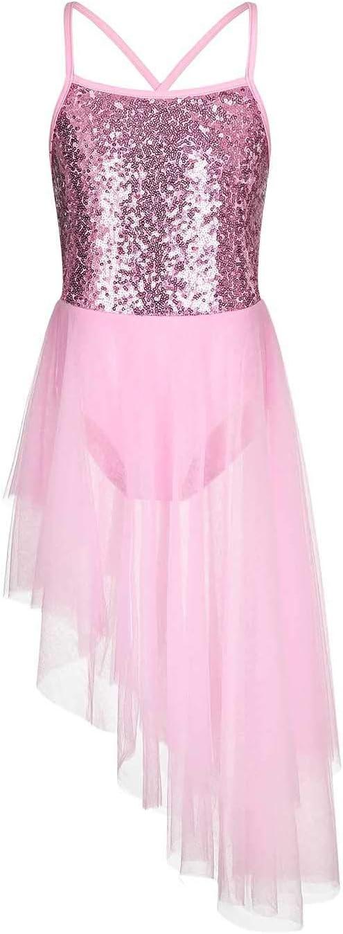 FONLAM Justaucorps Robe de Ballet Danse pour Fille Tutu Robe Princesse L/éotard Gymnastique Patinage Ballet Classique Fille