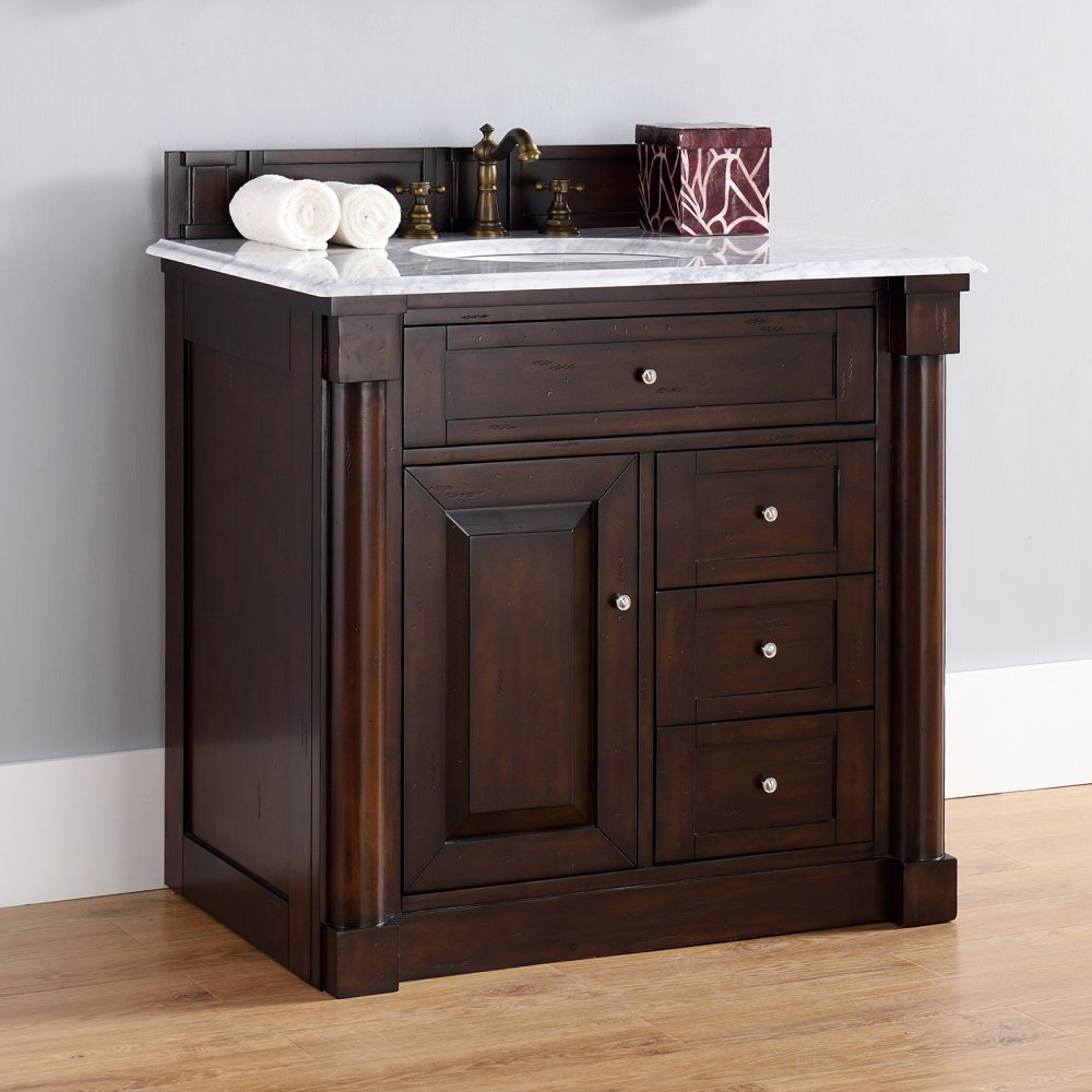 James Martin 770-V36-BNM New Haven 36'' Single Vanity - Top Not Included