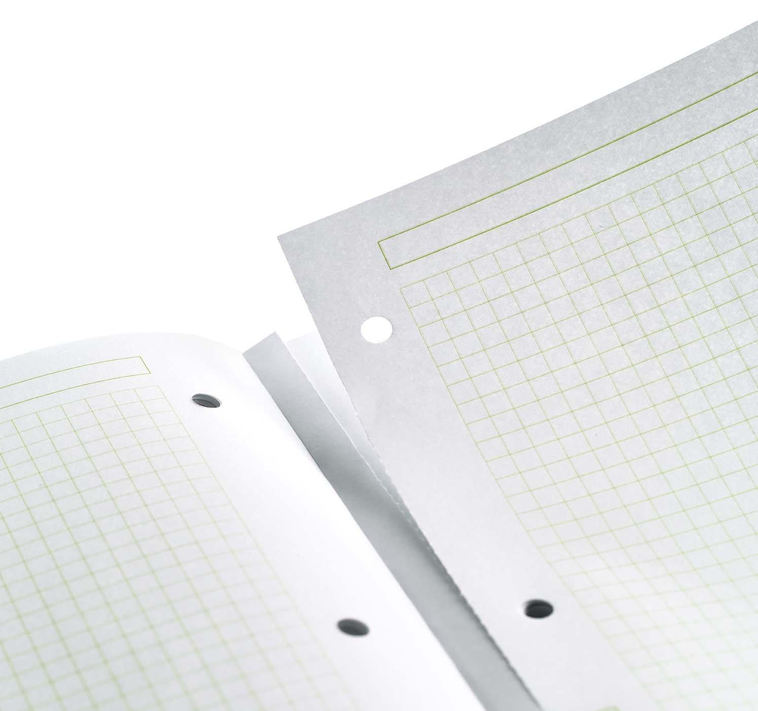 Miquelrius 8.25 X 11.75 A4 Wirebound Notebook, 6-Subject, Graph Paper, Black