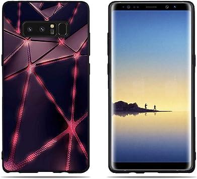 DIKAS Funda para Samsung Galaxy Note 8 N950F, Borde Negro ...
