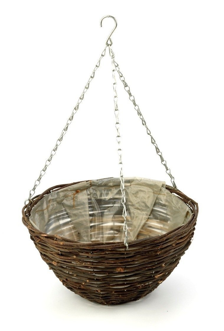 Apollo 16-inch Dark Willow Hanging Basket Apollo Gardening Ltd