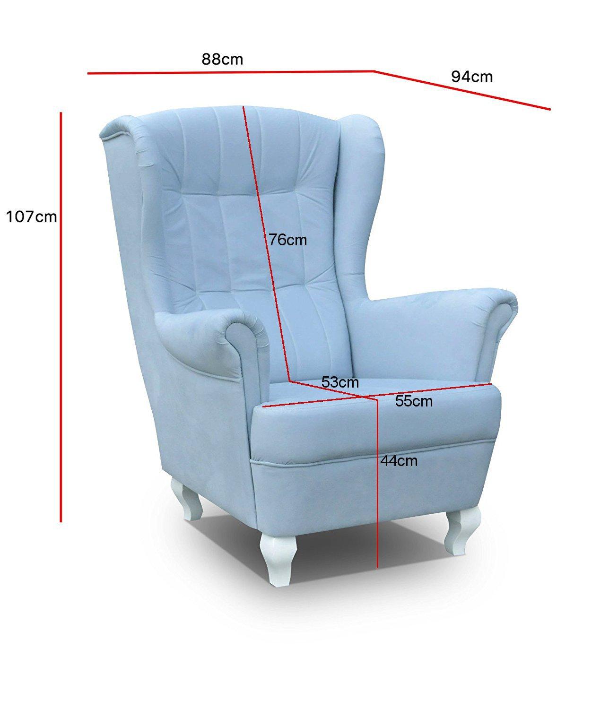 mb-moebel Sillón de salón de sillón Relax - Sillón de sillón ...