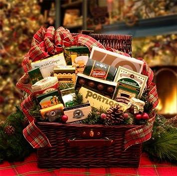 Amazon.com : Elegant Gourmet Christmas Gift Hamper : Gourmet Baked ...