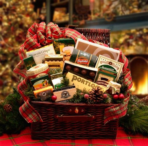 Hearth and Home Premium Christmas Holiday Gourmet Food Gift Basket by Organic Stores