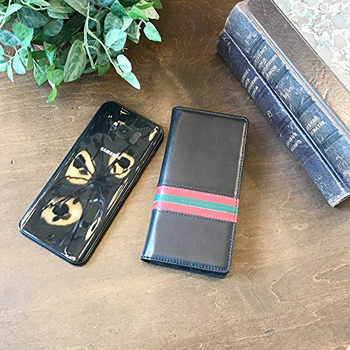Galaxy S8 Flip Case -- iPulse Italian Full Grain Leather Handmade Wallet Case For Samsung Galaxy S8