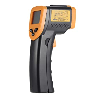 KKmoon Termómetro digital del punto del láser IR del infrarrojo sin contacto