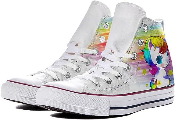 Sneaker Scarpe Converse Personalizzate Baby Unicorn by