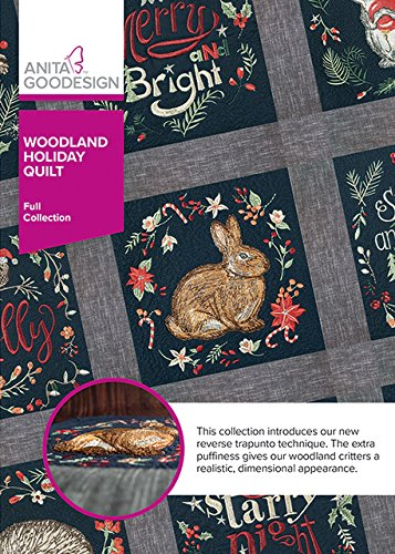 Anita Goodesign Embroidery Machine Designs CD Woodland Holiday Quilt (Holiday Designs Embroidery)