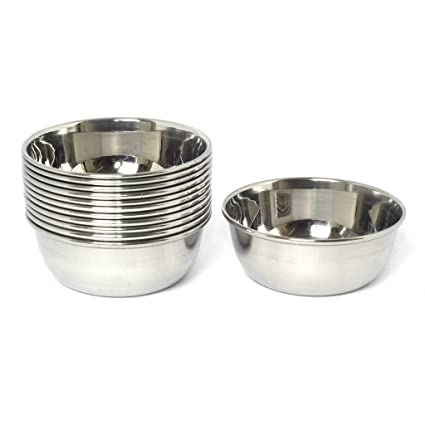 finest selection 6fbca 71971 Embassy Vinod Vati/Curry Bowl, Size 2, 125 ml, 9.3 cms (Pack of 12,  Stainless Steel)