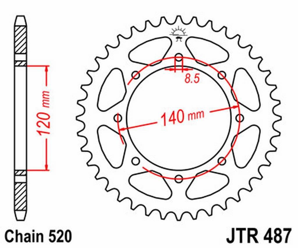 JT - R48744 : Corona plato transmision trasero