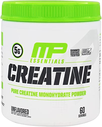 MP Essentials Micronized Creatine, Ultra-Pure 100 Creatine Monohydrate Powder, Muscle-Building, Protein Creatine Powder, Creatine Monohydrate Powder, 300 g, 60 Servings