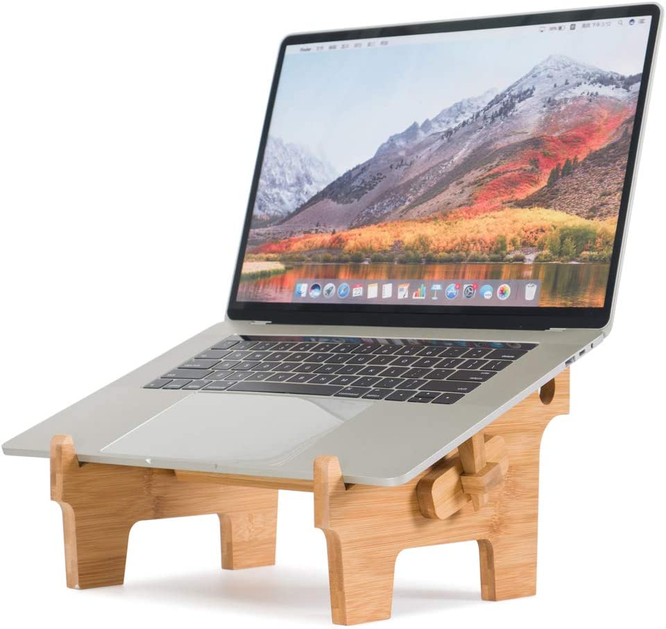 Laptop Stand for Desk MTWhirldy Desktop Universal Computer Riser Stands Foldable Compatible with MacBook Air Mac Pro HP DELL Acer Bamboo Laptop Cooling Stands (for 13-17inch)