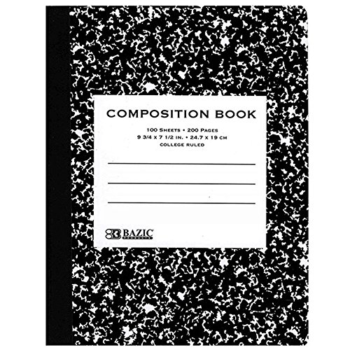 (Ddi College Rule Black Marble Composition Book (Pack Of 48))